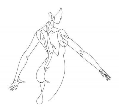 Papiers peints Figure féminine ligne continue vectoriel graphique VI