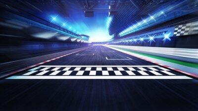 Fin, ligne, racetrack, projecteurs, mouvement, barbouillage