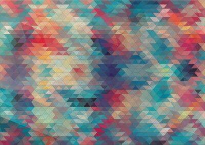 Papiers peints flat design geometric colorful background