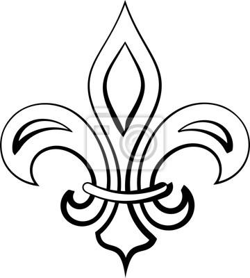 Fleur De Lis Calligraphique Fleur De Lys Ou Fleur De Luce Le