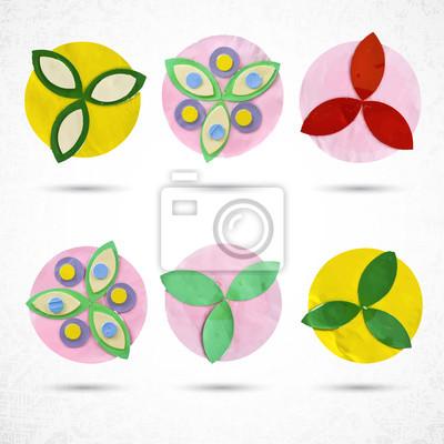 Fleur fixé pour la conception, en papier avec la découpe, de l'artisanat et de l'activité de loisir