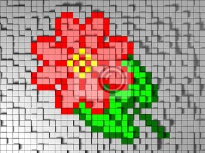 Pixel Art Fleur