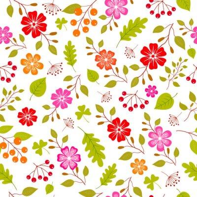 Papiers peints Fleurs colorées, seamless, modèle