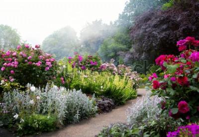 Papiers peints Fleurs d'art le matin dans un parc anglais