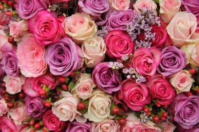 Papiers peints Fleurs de mariage pastel