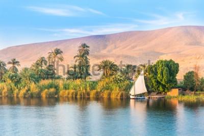 Papiers peints Fleuve Nil en Egypte. Louxor, Afrique.