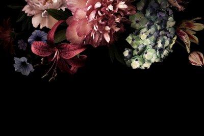 Papiers peints Floral card. Vintage flowers.