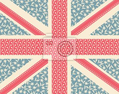 Floral drapeau britannique