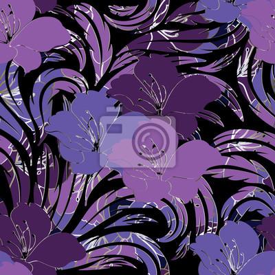 Floral Pattern Sans Soudure Illustration De Fond Decran De Papier