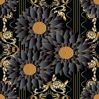 papier peint baroque dore vert papiers peints wallpaper t. Black Bedroom Furniture Sets. Home Design Ideas