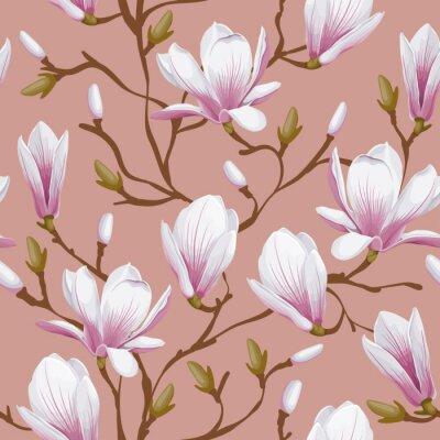 Papiers peints Floral seamless - magnolia
