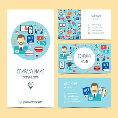 Papiers Peints Flyer Brochure Et Cartes De Visite Pour Lapprentissage Des Langues Trangres