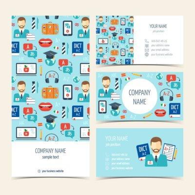 Papiers Peints Flyer Brochure Et Cartes De Visite Pour Les Cours Langues Trangres