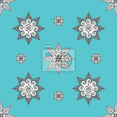 Folk inspiré turquoise wallaper