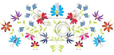 Folk motif floral