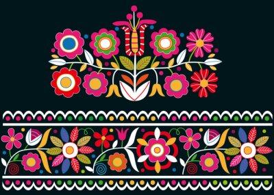 Papiers peints Folk ornements slovaques