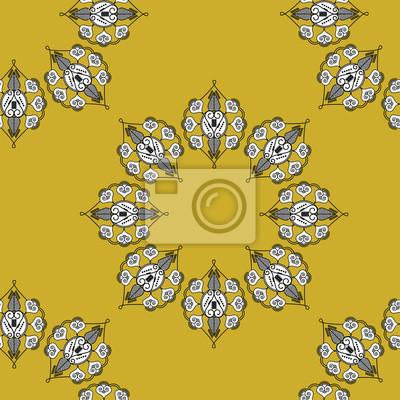 Folk papier inspiré des formes de fleurs d'or