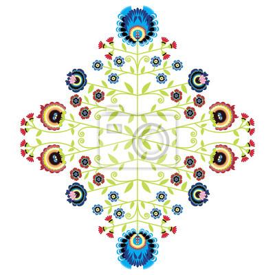 Folklorique polonaise inspiré motif floral