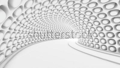Papiers peints Fond 3d de tunnel abstrait blanc. Illustration de rendu 3D