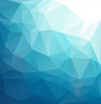 Papiers peints Fond bleu de mosaïque polygonale, modèles créatifs de conception