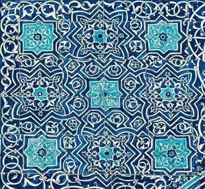 Papiers peints Fond carrelée avec ornements orientaux