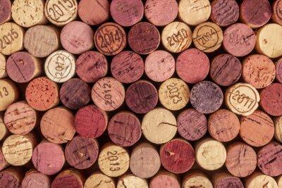 Papiers peints Fond de bouchons de vin, photo aérienne de bouchons de vin rouges et blancs