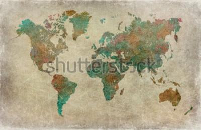 Papiers peints fond de carte du monde vintage