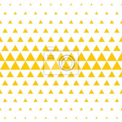 Fond de demi-teinte triangulaire jaune et blanc. Modèle sans couture abstraite de vecteur de triangles irréguliers dans la conception de transition de couleur mosaïque