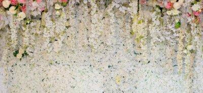 Papiers peints fond de fleur. décoration de mariage de toile de fond. Motif de rose. Fleur de mur, fond coloré, rose fraîche