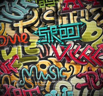 Papiers peints Fond de graffiti
