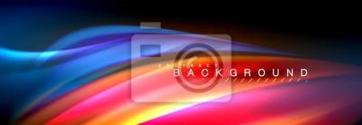 Papiers peints Fond de ligne vague couleur fluide. Tendance modèle de présentation abstraite pour la présentation de l'entreprise ou de la technologie, affiche internet ou couverture de brochure web, papier peint