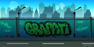 Papiers peints Fond de mur Graffiti, art urbain