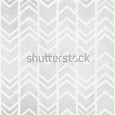 Papiers peints Fond de papier aquarelle transparent avec motif aquarelle gris tribal ikat