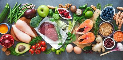 Papiers peints Fond de régime alimentaire équilibré