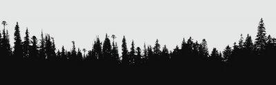 Papiers peints Fond de silhouette forestière.