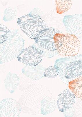 Papiers peints Fond élégant avec des pétales