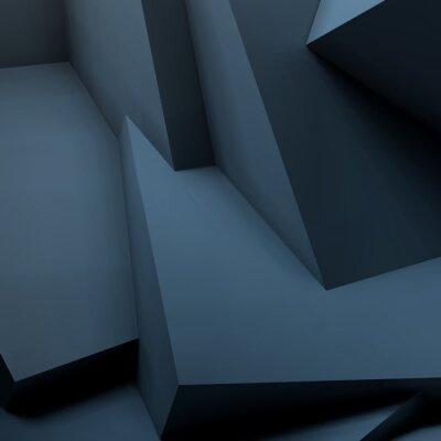 Papiers peints Fond géométrique abstrait avec des cubes superposés