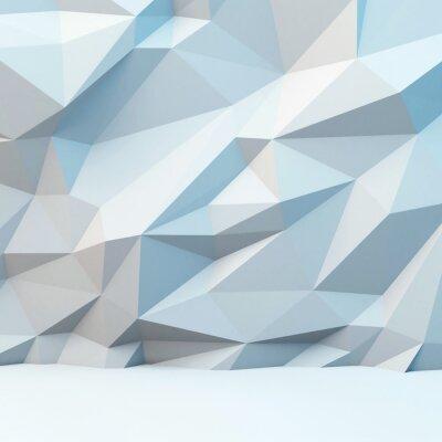 Papiers peints Fond gris abstrait avec motif polygonale. Image 3d