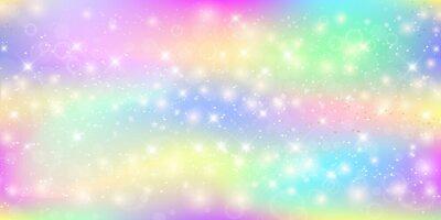 Papiers peints Fond magique holographique avec des étincelles de fées, des étoiles et des flous.