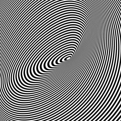 Papiers peints Fond noir et blanc Opt Art