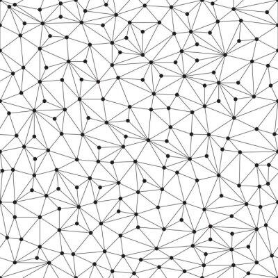 Papiers peints Fond polygonale, motif sans couture, des lignes et des cercles