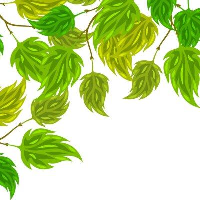 Papiers peints Fond, stylisé, vert, feuilles, salutation, cartes