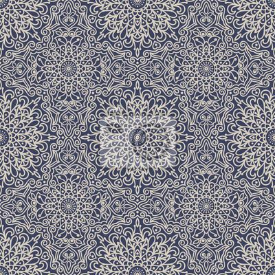 Fond Transparent Style Oriental Bleu Et Beige Motif Arabe Ornement