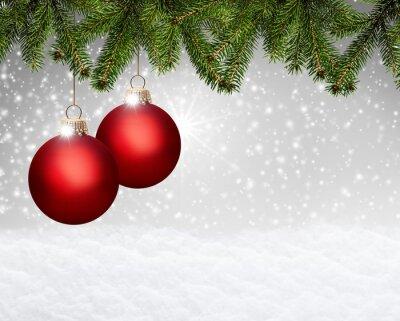 fond Weihnachtlicher avec des boules