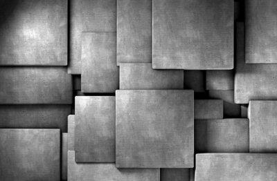 Papiers peints fondo abstracto 3d, bloques de cément