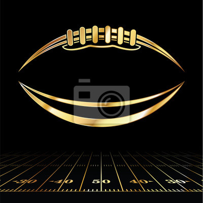 Papiers peints Football américain icône dorée