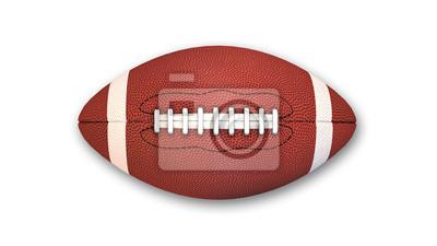 Papiers peints Football américain isolé sur fond blanc, vue de dessus