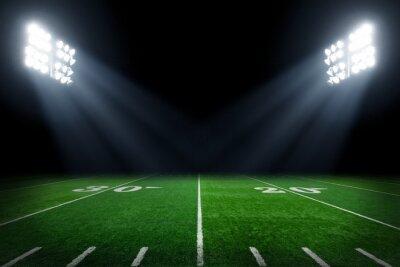 Papiers peints Football, champ, éclairé, stade, lumières