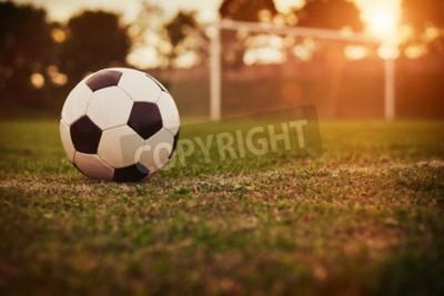 Papiers peints Football, coucher soleil