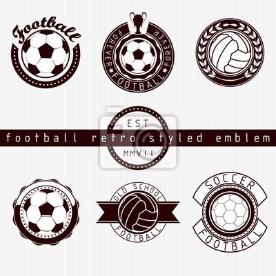 Football emblème style rétro